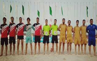 مسابقات فوتبال ساحلی جام فجر در کیش