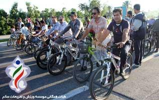 همایش دوچرخه سواری همگانی در کیش به نفع نیازمندان