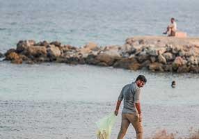برنامه پاکسازی دریا و سواحل جزیره کیش