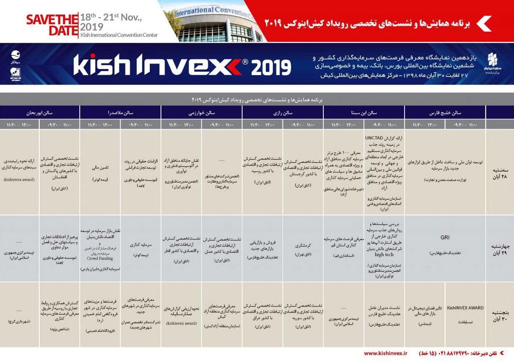 نمایشگاه کیش اینوکس 2019