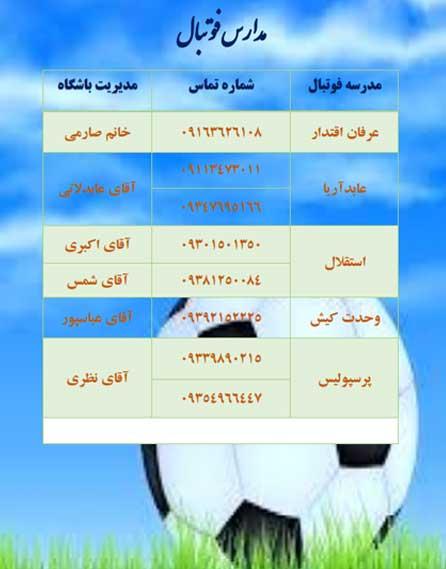 مدارس فوتبال کیش