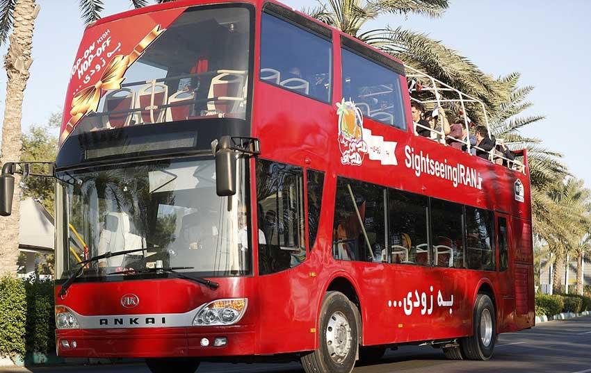 برگزاری مراسم رونمایی از اولین اتوبوس گردشگری کیش