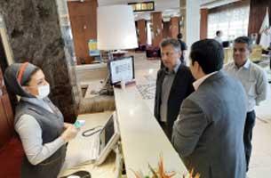 بازید مدیر نظارت بر خدمات و مراکز گردشگری کیش از هتل های جزیره