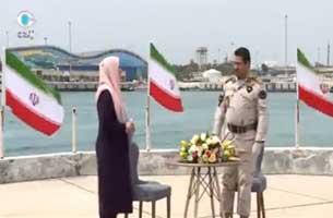 سرهنگ علی اصغر جمالی در برنامه تلویزیونی شبکه کیش ویژه روز خلیج فارس