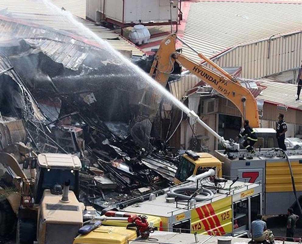 مهار ۹۹ درصدی آتش سوزی در بازار پردیس ۱ کیش