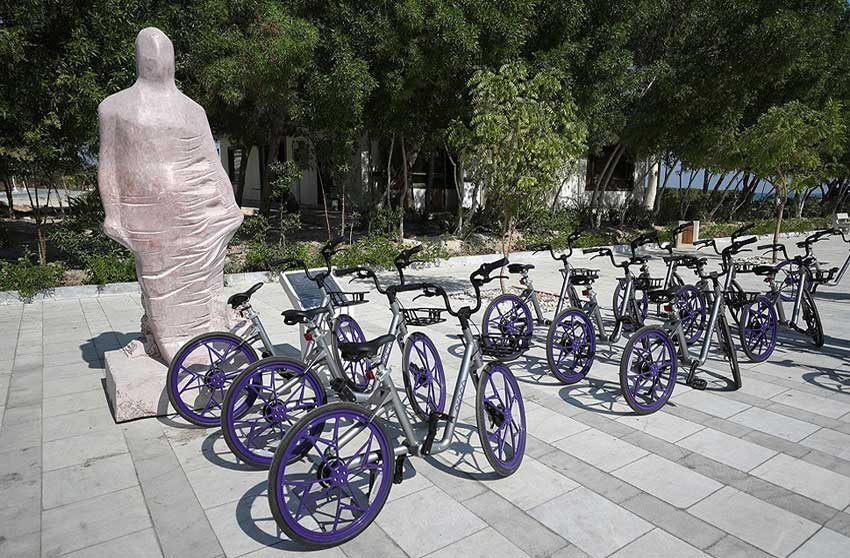 بهره برداری از دوچرخه های هوشمند در کیش