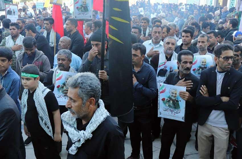 برگزاری مراسم عزاداری سردار قاسم سلیمانی در کیش